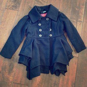 EUC girls black pea coat CATHERINE MALANDRINO 5/6